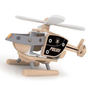 Kit Brico para construir um helicóptero de polícia