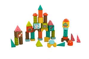 Jogos de cubos de madeira