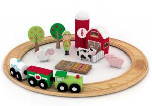 Figuras de madeira de brinquedo